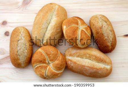 kaiser bread bun in the market place - stock photo