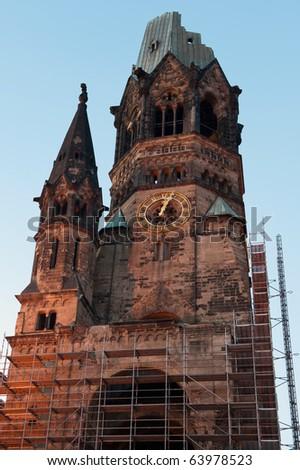 Kaiser Wilhelm Memorial Church in Berlin, Germany - stock photo