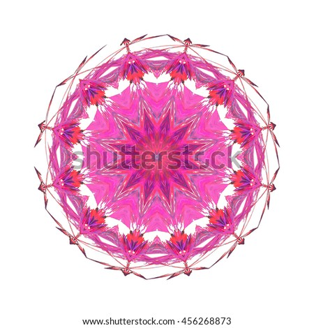 kaleidoscope Hot pink mauve white twirl twist spin unique pattern design oval abstract art background backdrop different and unique lace - stock photo