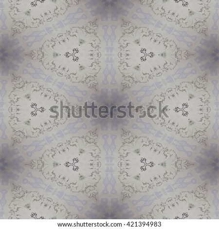 Kaleidoscopic white star design abstract ornament seamless pattern - stock photo