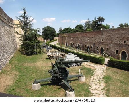 Kalemegdan fortress in Belgrade on summer, Serbia - stock photo