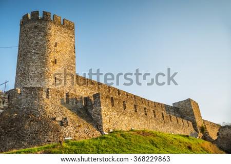 Kalemegdan fortress in Belgrade, Serbia - stock photo