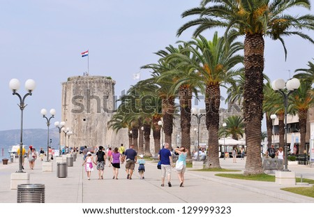 Kamerlengo castle in historical town Trogir, Croatia - stock photo