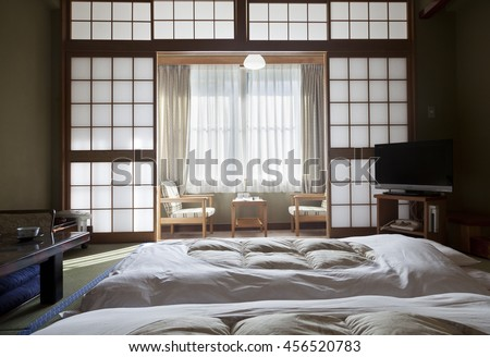KAMIKOCHI,JAPAN- MAY 22,2016: traditional Japanese room in traditional style - stock photo