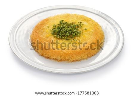 kanafeh, arabic sweet - stock photo