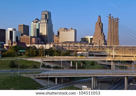 Kansas City. Image of the Kansas City skyline. - stock photo