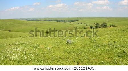 Kansas Prairie , - stock photo