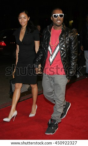 Kanye West at the Los Angeles premiere of 'Smokin' Aces' held at the Grauman's Chinese Theatre in Hollywood, USA on January 18, 2007. - stock photo
