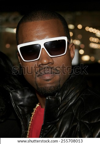 "Kanye West attends the World Premiere of ""Smokin' Aces"" held at the Grauman's Chinese Theater in Hollywood, California on January 18, 2007.  - stock photo"