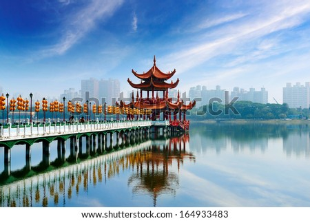 Kaohsiung's famous tourist attractions  - stock photo