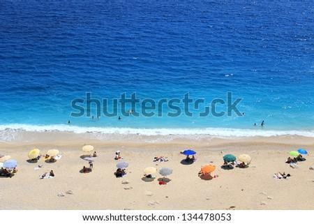 Kaputas Beach, Antalya. - stock photo