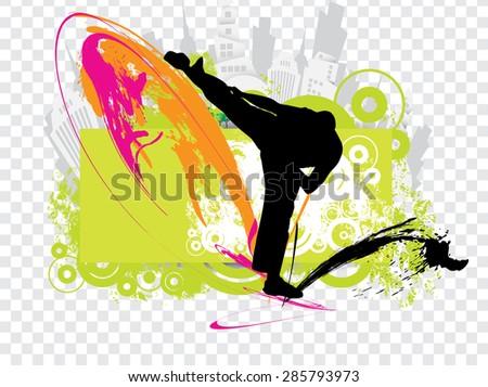 Karate illustration - stock photo