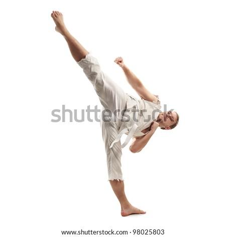 Karate Kick - stock photo