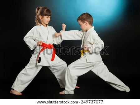Karate martial Arts - stock photo
