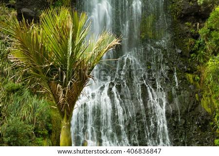 karekare falls - stock photo