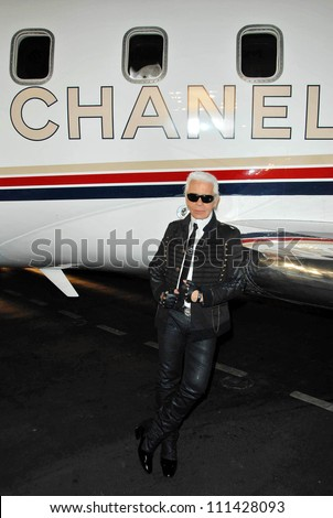 Karl Lagerfeld at the 2007/2008 Chanel Cruise Show Presented by Karl Lagerfeld. Hanger 8, Santa Monica, CA. 05-18-07 - stock photo
