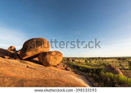 Karlu Karlu, Devils Marbles Conservation Reserve, Northern Territory, Australia - stock photo