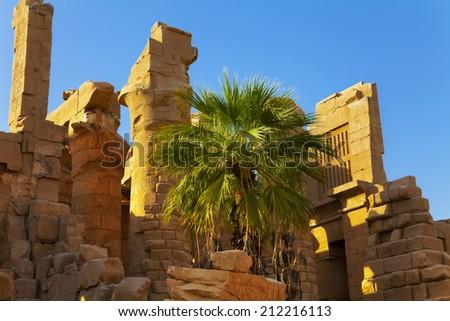 Karnak temple ruins - stock photo
