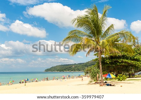 Karon beach in Phuket island Thailand - stock photo
