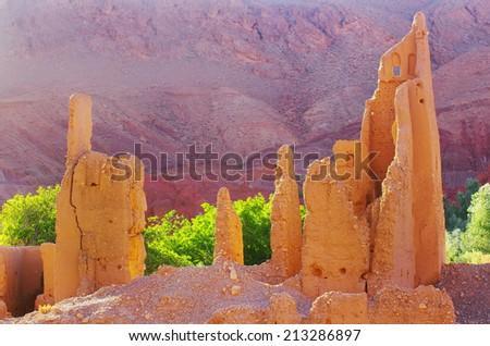 Kasbah ruins - stock photo