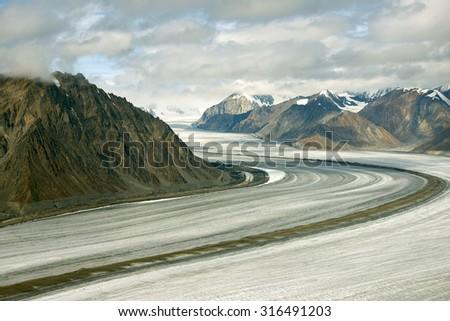 Kaskawulsh Glacier and Mountains, Kluane National Park, Yukon 02 - stock photo