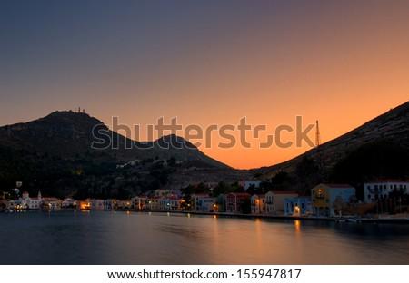 Kastelorizo Megisti Port - stock photo