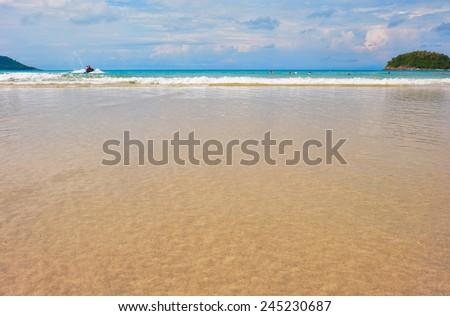 Kata beach on Phuket island in Thailand - stock photo