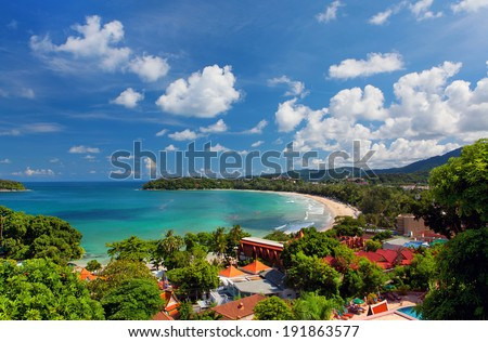 Kata Beach, Phuket, Thailand - stock photo