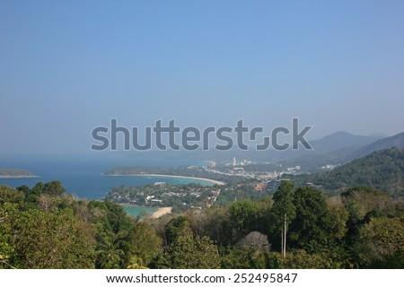Kata, Karon, Patong View Point, Phuket , South of Thailand - stock photo