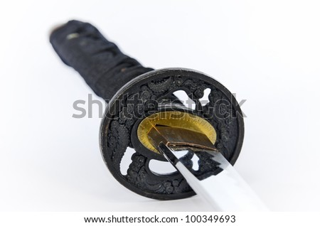 Katana - Japanese sword - stock photo