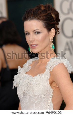 KATE BECKINSALE at the 63rd Annual Golden Globe Awards at the Beverly Hilton Hotel. January 16, 2006  Beverly Hills, CA  2006 Paul Smith / Featureflash - stock photo
