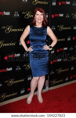 Kate Flannery at the 2012 Gracie Awards Gala, Beverly Hilton Hotel, Beverly Hills, CA 05-22-12 - stock photo