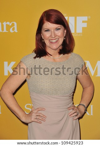 Kate Flannery at the Women in Film 2012 Crystal + Lucy Awards at the Beverly Hilton Hotel. June 13, 2012  Beverly HIlls, CA Picture: Paul Smith / Featureflash - stock photo