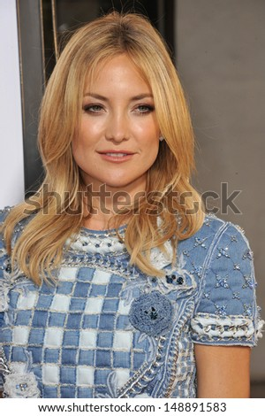 "Kate Hudson at the Los Angeles premiere for her HBO film ""Clear History"" at the Cinerama Dome, Hollywood. July 31, 2013  Los Angeles, CA - stock photo"