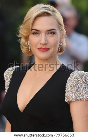 """Kate Winslet arriving for the """"Titanic 3D"""" premiere at the Royal Albert Hall, Kensington, London. 27/03/2012 Picture by: Steve Vas / Featureflash - stock photo"""