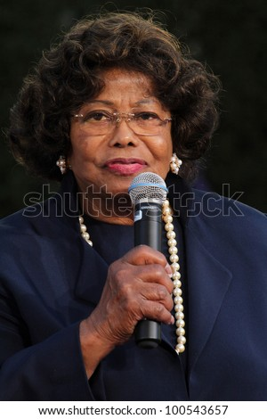 Katherine Jackson at Michael Jackson Immortalized at Grauman's Chinese Theatre, Hollywood, CA 01-26-12 - stock photo