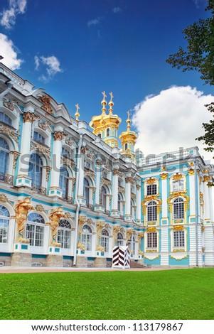 Katherine's Palace hall in Tsarskoe Selo (Pushkin), Russia - stock photo