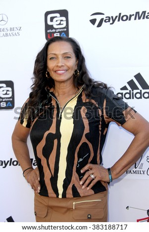 Kathleen Bradley-Redd arrives at the inaugural Stephen Bishop celebrity golf invitational benefiting R.A.K.E. on Feb. 15, 2016 at Calabasas Country Club in Calabasas, CA. - stock photo