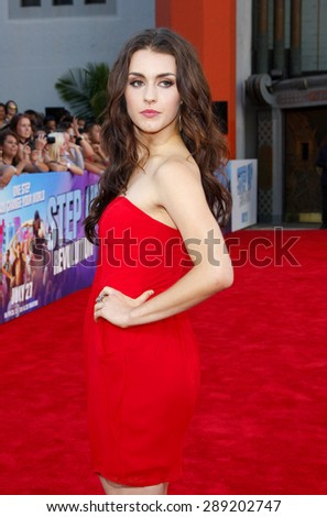 Kathryn McCormick at the Los Angeles premiere of 'Step Up Revolution' held at the Grauman's Chinese Theatre in Hollywood on July 17, 2012.  - stock photo