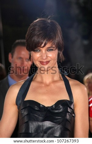 Katie Holmes  at the Los Angeles Premiere of 'Tropic Thunder'. Mann's Village Theater, Westwood, CA. 08-11-08 - stock photo