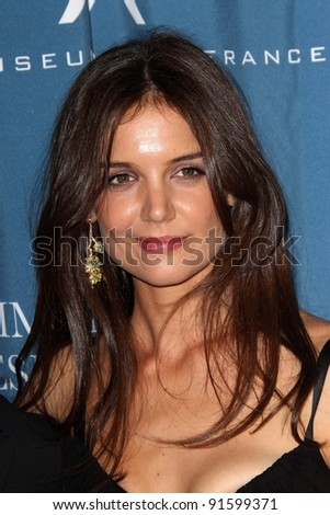 Katie Holmes at the Simon Wiesenthal Center Annual National Tribute Dinner Honoring Tom Cruise, Four Seasons Hotel, Beverly Hills, CA 05-05-11 - stock photo