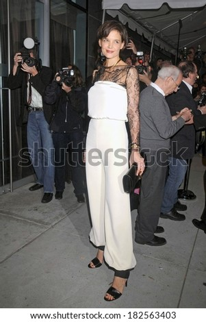 Katie Holmes, in Holmes-Yang, at the after-party for After Party for ALL MY SONS Opening Night on Broadway, Espace Restaurant, New York, October 16, 2008 - stock photo