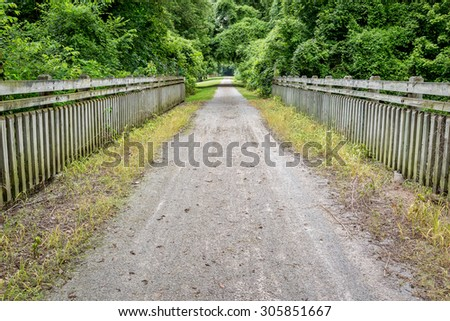 Katy Trail near Portland, Missouri - 237 mile bike trail stretching across most of the state of Missouri converted from abandoned railroad - stock photo