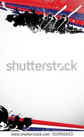 Kayak background with space (poster, web, leaflet, magazine) - stock photo