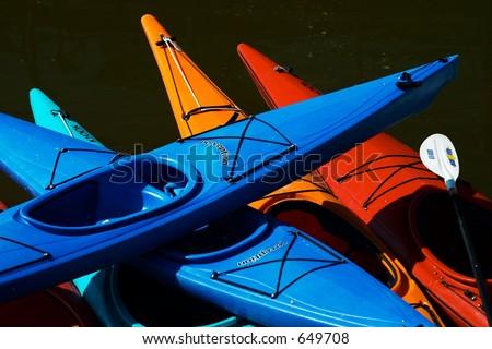 Kayak Stack - stock photo