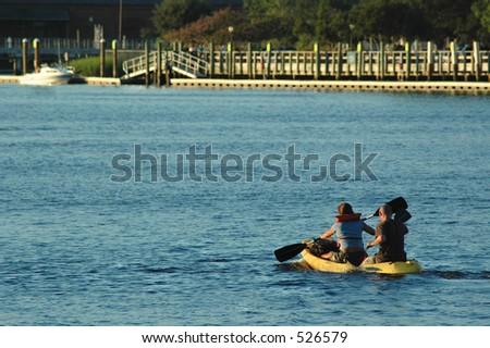 Kayaking Cape Fear - stock photo