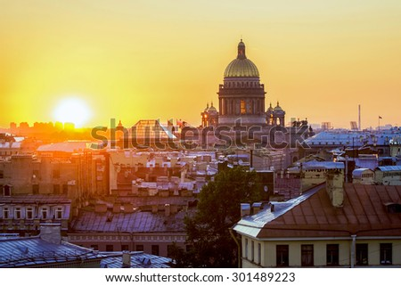 Kazan Cathedral. St.Petersburg. Russia - stock photo