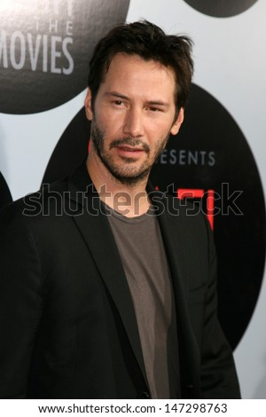 Keanu Reeves  arriving at the AFI Salute to the Movies presented by Target at the ArcLight Theater in Los Angeles,  CA on October 1, 2008 - stock photo