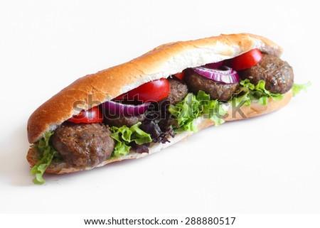 Kebab Sandwich - stock photo