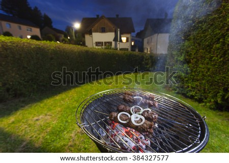 kebap skeser on a bbq  - stock photo